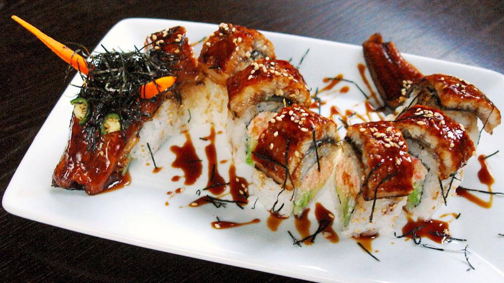 Fried Dragon Roll Sushi Menu - �...